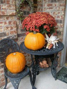 fall decor, front porch, porch decor, fall porches