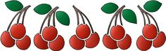 Cherry Border design that could be used to create a stencil. #Cherries #CherryGraphics