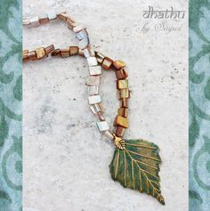 metal leaf earrings #patina #vintaj #jewelry