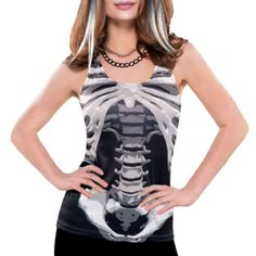 Skeleton Tank Top for Adults - Party City