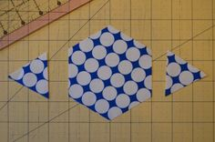 cutting hexagons without a template.