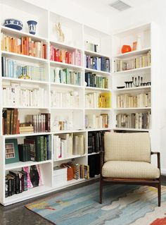 Apartment Therapy...love the books by color!