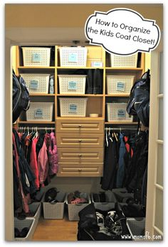 How to Organize a Kids Coat Closet