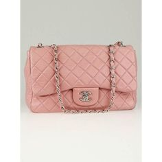 Chanel Pink Quilted Lambskin Leather Classic Jumbo Flap Bag