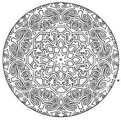 Mandala 581, Mandala Mazes Coloring Book, Dover Publications