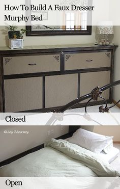 How To Build a Faux Dresser Murphy Bed.
