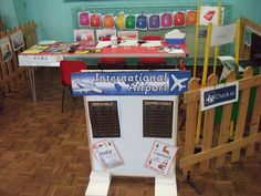 Airport role-play area classroom display photo - SparkleBox