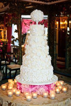 Beautiful white wedding cake!