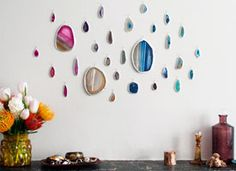 How-Tuesday: Agate Slice Art Wall on Etsy