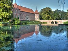 Voergaard Castle (Danish: Voergaard Slot) is a moated Renaissance manor house located 10 km north of Dronninglund on the North Jutland island in north-western Denmark. It is open to the public and houses a significant art collection.