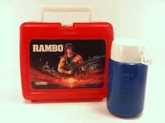 Vintage Thermos Rambo Lunch Box  1985