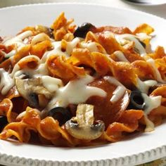 Pepperoni Pizza Bake Recipe from Taste of Home -- shared by Catherine Yeats of Lewiston, Idaho