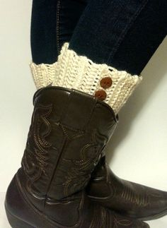Boot Cuff with Buttons Boot Cuff Crochet by DeerwoodCreekGifts, $17.00