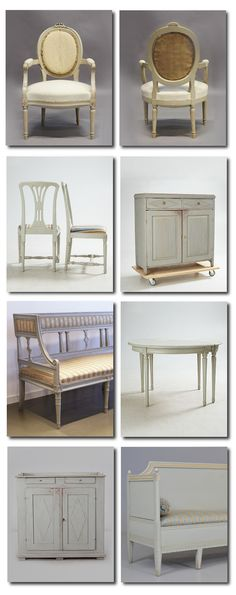 Gustavian Furniture In Gray