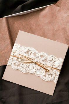 Lace invitation wrap