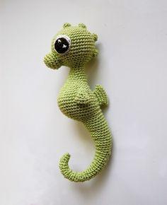 Amigurumi cute seahorse