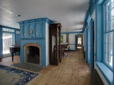 Great Floors, and love the unexpected blue trim!