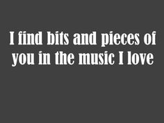 Love Quote for Valentine's Day. Cool message for a music lover.