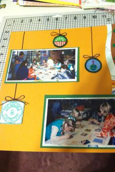 Girl Scout scrapbook page