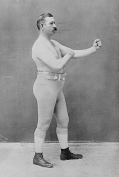 John L. Sullivan, the first heavyweight world champion of glove boxing and the last of bare-knuckle boxing. c.1898.