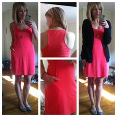 @Teri Zawrotny wearing our Hopscotch Dress in Coral! coral, dresses, hopscotch dress, blog