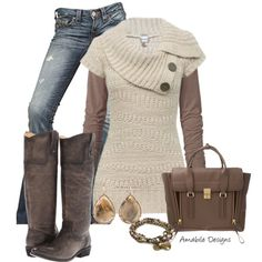 jean, sweaters, fashion, amabiledesign, fall outfits