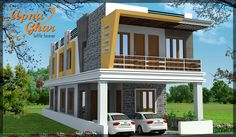 A design created keeping in mind all the needs of Yours.....Look at this....  3 Bedrooms Duplex House Design in 108m2 (6m X 18m)  View the Floor Plan here: http://apnaghar.co.in/house-design-429.aspx Call Toll-Free No.- 1800-102-9440 Email: support@apnaghar.co.in