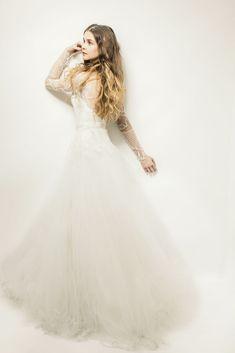Soft Romantic Beauty with Butter London. Dress by Monique Lhuillier