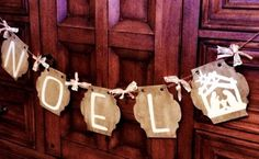Wood banners and PYP vinyl, I cut the letters and nativity scene with my Silhouette @pickyourplum