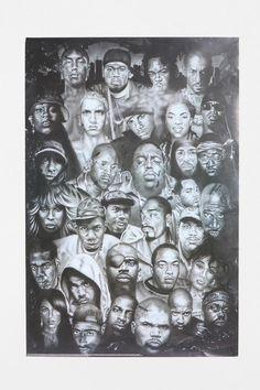 Hip Hop Legends Poster  #UrbanOutfitters