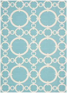 Nourison Waverly: Sun N' Shade SND02 Rectangle Rug - casa.com - other patterns available (Sea Glass)