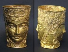 The Achaemenid Empire gold cup.The Achaemenid empire, the first of the Persian empires to rule over significant portions of Greater Iran, was wiped out by Alexander the Great in 330 BC.