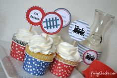 Free Train Party Printables by poofycheeks.com