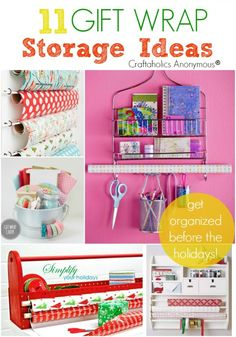 11 Gift Wrap Storage Ideas :: Get organized before the holidays!