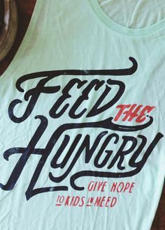 No child should know the pain of starvation. || When each shirt LITERALLY funds 1 month of food for a child in Africa, there's NO excuse for any to go hungry. || Buy a shirt, save a life at #sevenly.