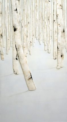 Lana Shuttleworth, Winter White, 2012, safety cones on panel, 48 x 27 inches