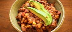 Crockpot Bean Chili  1/3 yellw onion, diced 1 cloves garlic, minced 1/3 green bell pepper, diced 1/3 carrot, grated 1/3 zucchini, grated 1/3 can diced tomatoes  2 cans of assorted beans, drained 1/4 c frozen corn kennels 1 tbs cumin 1 tsp chili powder Ancho to simmer 2oz tomato paste 2 tbsp water