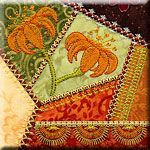 Machine Embroidery Crazy Quilt Block