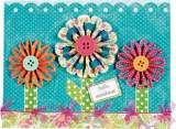 quill pattern, card, quilling patterns, pleat flower