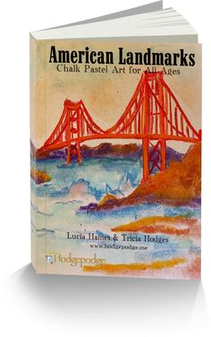 Art Curriculum with American Landmarks! Only $7.99! With our chalk pastels at the ready, let's take a tour of American Landmarks from sea to shining sea! American Landmarks: Chalk Pastel Art for All Ages is available! What's included in this art curriculum? Step-by-step how-to instructions. One book for all ages.