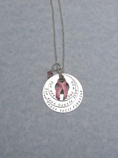 Breast Cancer Awareness Support Necklace