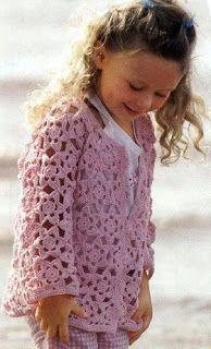 Young girl's crochet jacket: charts