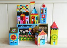 happy little houses paper craft kit