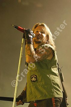 A #photo of #vinceneil of #motleycrue on their COS #tour in Ft. Wayne IN. 2005 — with Vince Neil Official and Motley Crue.