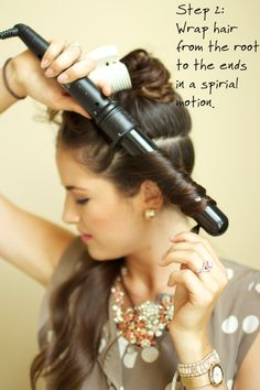 A little tutorial on achieving relaxed spiral curls