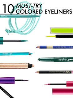 10 of the Best Colored Eyeliners // #makeup