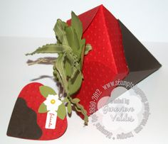 Strawberry Box and Tag