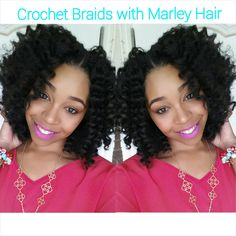 #62. How To: Crochet Braids w/ Marley Hair (Note: She suggests getting help to dip the parts of your head you cannot see/reach safely.)