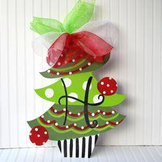 Christmas Tree Door Hanger Christmas Decor by LooLeighsCharm, $45.00