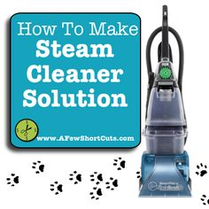 How to Make your Own Steam Cleaner Solution!